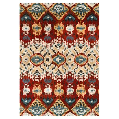 Leyda Hand-Tufted Red Area Rug Rug Size: Runner 26 x 76