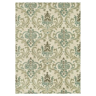 Keiper Beige/Green Area Rug Rug Size: Rectangle 93 x 13