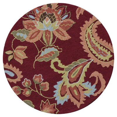 Juliana Hand Hooked Red Area Rug Rug Size: Rectangle 23 x 39