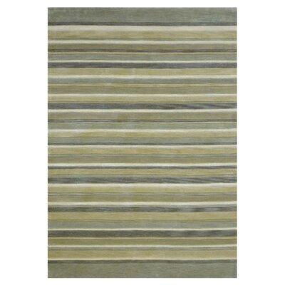Abacus Hand-Tufted Ivory/Mist Area Rug Rug Size: Rectangle 710 x 11