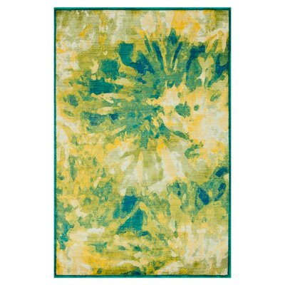 Lyon Green/Yellow Area Rug Rug Size: 52 x 77