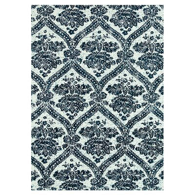 Keiper Indigo Blue/White Area Rug Rug Size: Rectangle 5 x 76