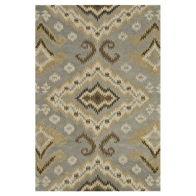 Fairfield Hand-Tufted Gray/Gold Area Rug Rug Size: 76 x 96