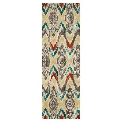 Leyda Hand-Tufted Light Gold Area Rug Rug Size: Runner 26 x 76