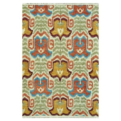 Zarate Hand-Knotted Ivory Area Rug Rug Size: Rectangle 5'6