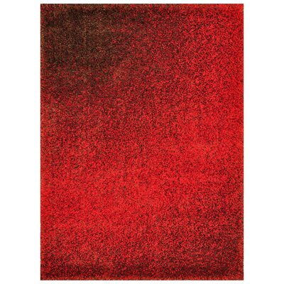 Barcelona Red Area Rug Rug Size: 52 x 77