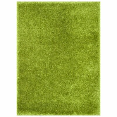 Cozy Hand-Tufted Green Area Rug Rug Size: 36 x 56