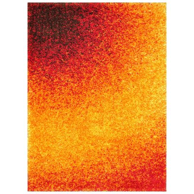 Barcelona Red/Gold Area Rug Rug Size: Rectangle 52 x 77