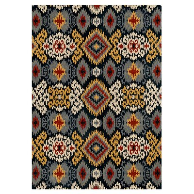 Leyda Hand-Tufted Midnight Area Rug Rug Size: 36 x 56