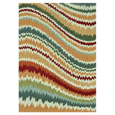 Mosher Hand-Hooked Green/Brown Indoor/Outdoor Area Rug Rug Size: Rectangle 36 x 56