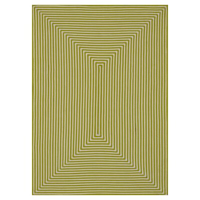 In/Out Hand-Woven Lime Indoor/Outdoor Area Rug Rug Size: 36 x 56