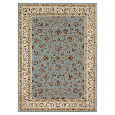 Kirkman Blue/Ivory Area Rug Rug Size: Rectangle 310 x 57