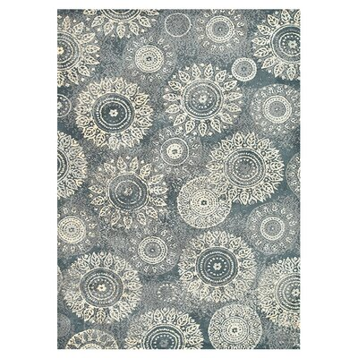 Keiper Charcoal/Beige Area Rug Rug Size: Rectangle 36 x 56