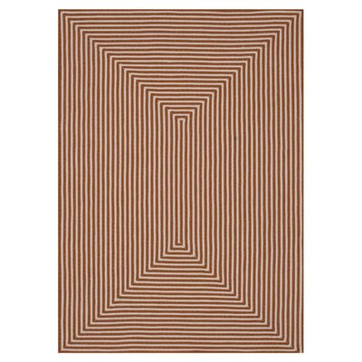 In/Out Hand-Woven Orange Indoor/Outdoor Area Rug Rug Size: Rectangle 5 x 76