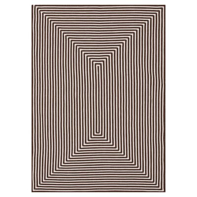 In/Out Hand-Woven Brown Indoor/Outdoor Area Rug Rug Size: Rectangle 76 x 96