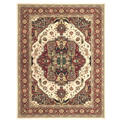 Dolphus Beige/Rust Area Rug Rug Size: Rectangle 2 x 3