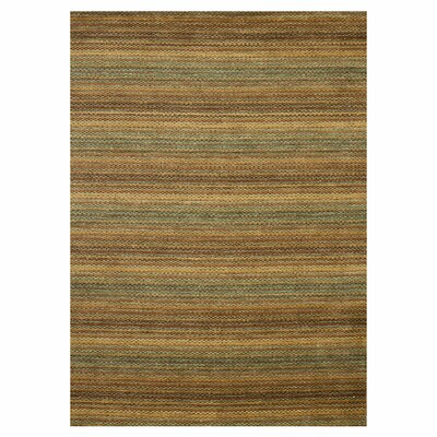 Turnage Hand-Woven Brown/Gold Area Rug Rug Size: Rectangle 76 x 96
