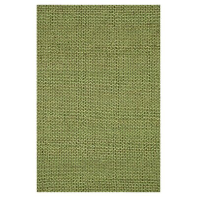 Eco Hand-Woven Green Area Rug Rug Size: 36 x 56