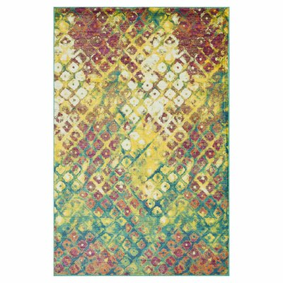 Yanga Red/Yellow Area Rug Rug Size: Rectangle 39 x 52