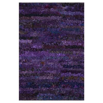 Eliza Shag Hand-Woven Grape Area Rug Rug Size: 3 x 5