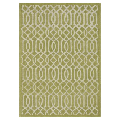 Brighton Hand-Tufted Apple Green Area Rug Rug Size: Rectangle 36 x 56