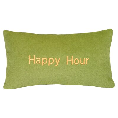 Happy Hour Wool Lumbar Pillow