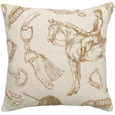 Equestrian Linen Throw Pillow