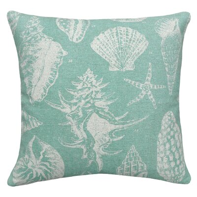 Coastal Seashells Linen Throw Pillow