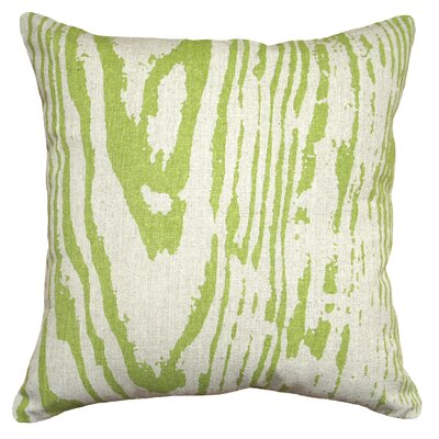 Graphic Faux Bois Linen Throw Pillow Color: Chartreuse