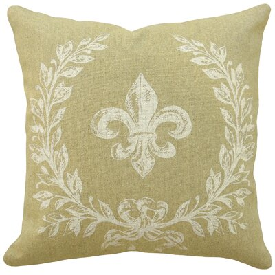 123 Creations French Fleur de Lis 100% Linen Pillow