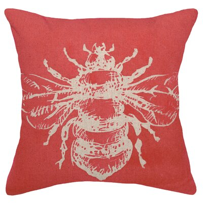 Modern Bumble Bee Linen Throw Pillow