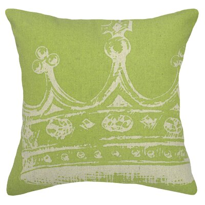 Modern Crown Linen Throw Pillow Color: Chartreuse Green