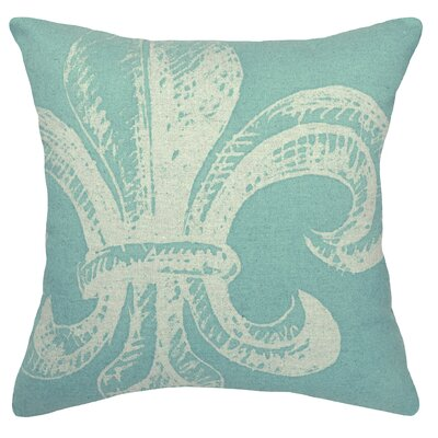 123 Creations Modern Fleur de Lis Linen Throw Pillow