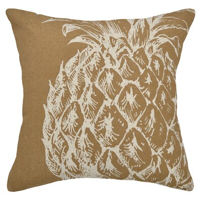 Modern Pineapple Linen Throw Pillow