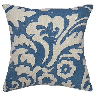Alameda Jacobean Linen Throw Pillow Color: Blue