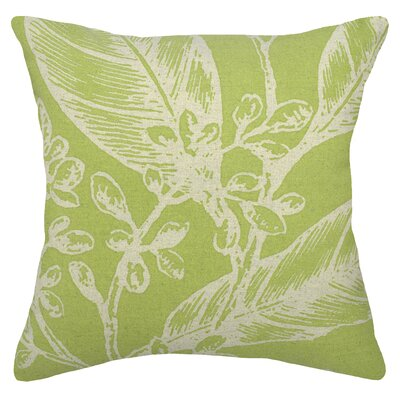 Floral Botanical Linen Throw Pillow