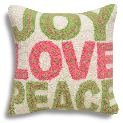 Joy Love Peace Wool Throw Pillow