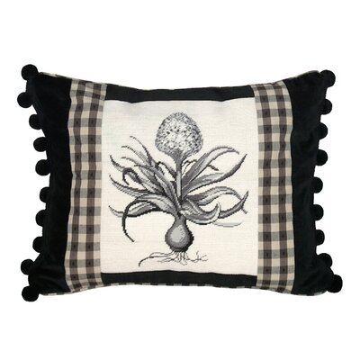 Hyacinth Needlepoint Wool Lumbar Pillow