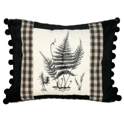 Fern Needlepoint Wool Lumbar Pillow
