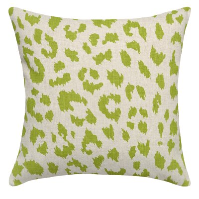 Tyre Cheetah Linen Throw Pillow Color: Chartreuse