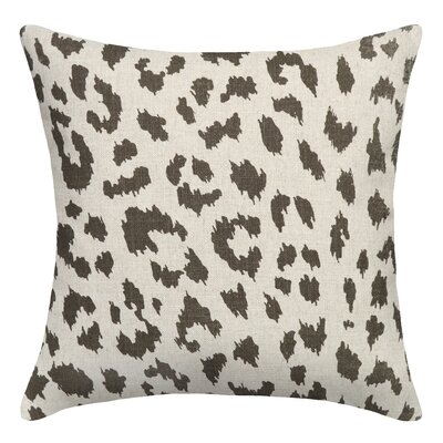 Animal Print Cheetah Linen Throw Pillow Color: Smoky Gray