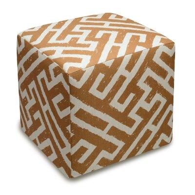 Acevedo Cube Ottoman Color: Caramel