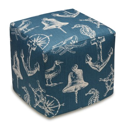 Nautical Upholstered Cube Ottoman
