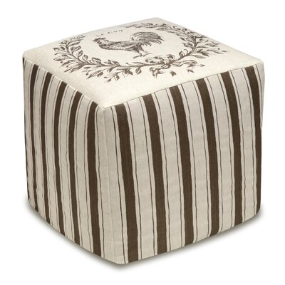 Rooster Upholstered Cube Ottoman