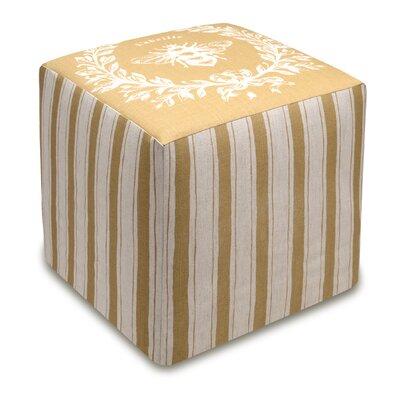 Napoleon Bee Upholstered Cube Ottoman Upholstery: Tan