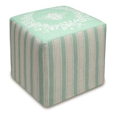 Napoleon Bee Upholstered Cube Ottoman Upholstery: Aqua