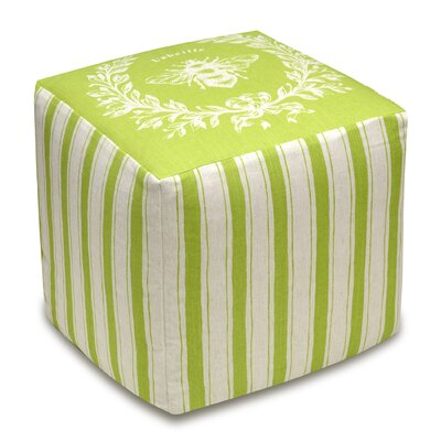 Napoleon Bee Cube Ottoman Upholstery: Chartreuse Green