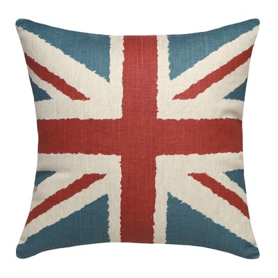 Britannia Printed Linen Throw Pillow