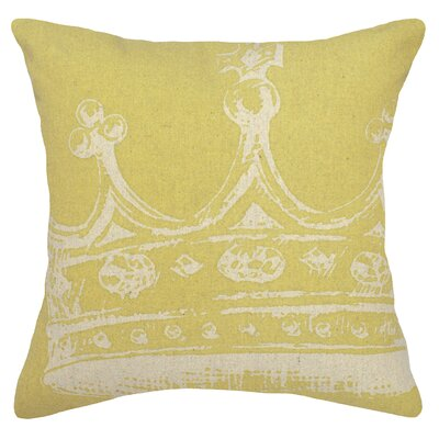Modern Crown Linen Throw Pillow Color: Mustard