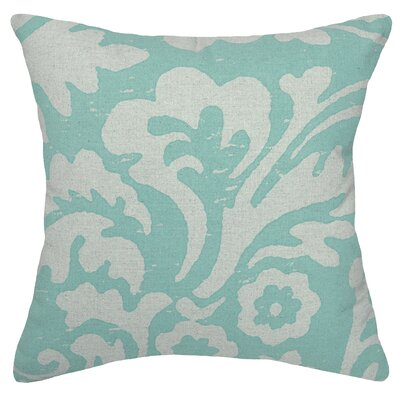 Alameda Jacobean Linen Throw Pillow Color: Aqua